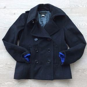 J.Crew Black Wool Peacoat | Size S